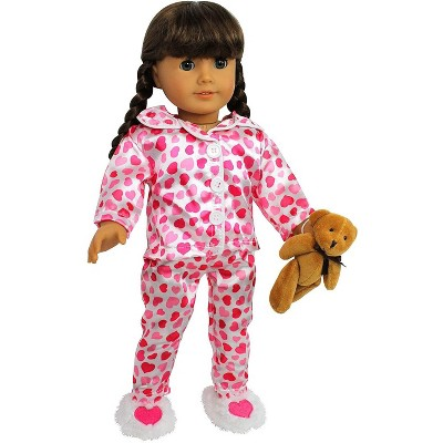 Dress Along Dolly Heart Pjs Outfit for American Girl Doll