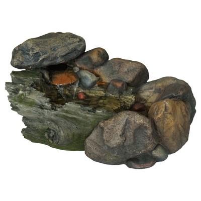 """22.9"""" x 13.9"""" x 14"""" Cascading Stone Outdoor Fountain - Multi Color - Pure Garden"""