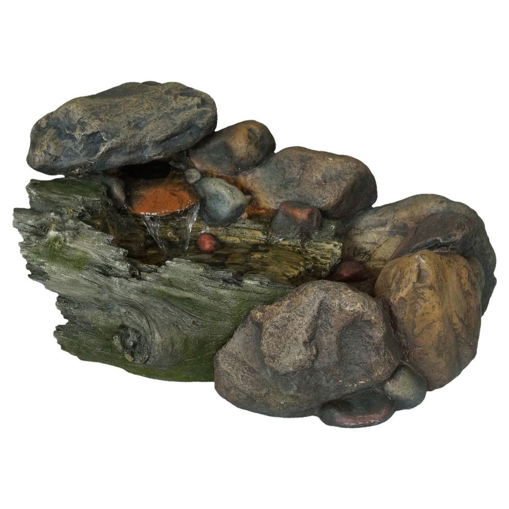 "Image of ""22.9"""" x 13.9"""" x 14"""" Cascading Stone Outdoor Fountain - Multi Color - Pure Garden"""