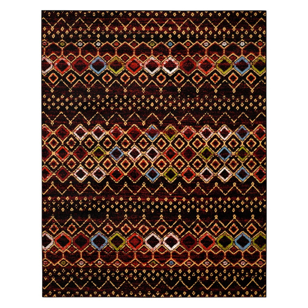 Geometric Area Rug Black