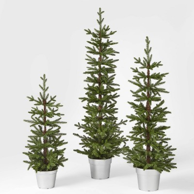 3ft, 4ft, and 5ft Unlit Balsam Fir Potted Artificial Christmas Trees - Wondershop™