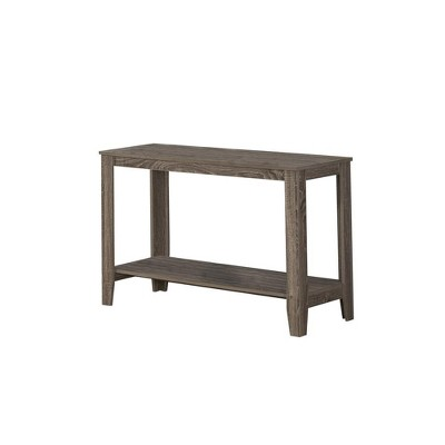 Monarch Specialties Contemporary Accent Rectangular Side End Table, Dark Taupe