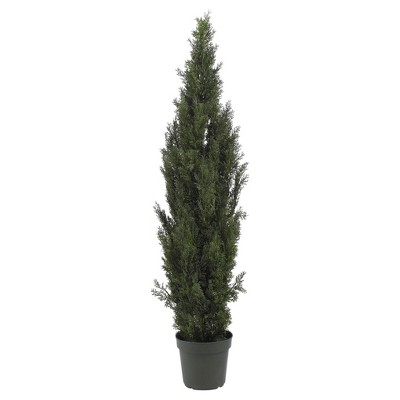 Artificial 6ft Mini Cedar Pine Tree Indoor/Outdoor - Nearly Natural