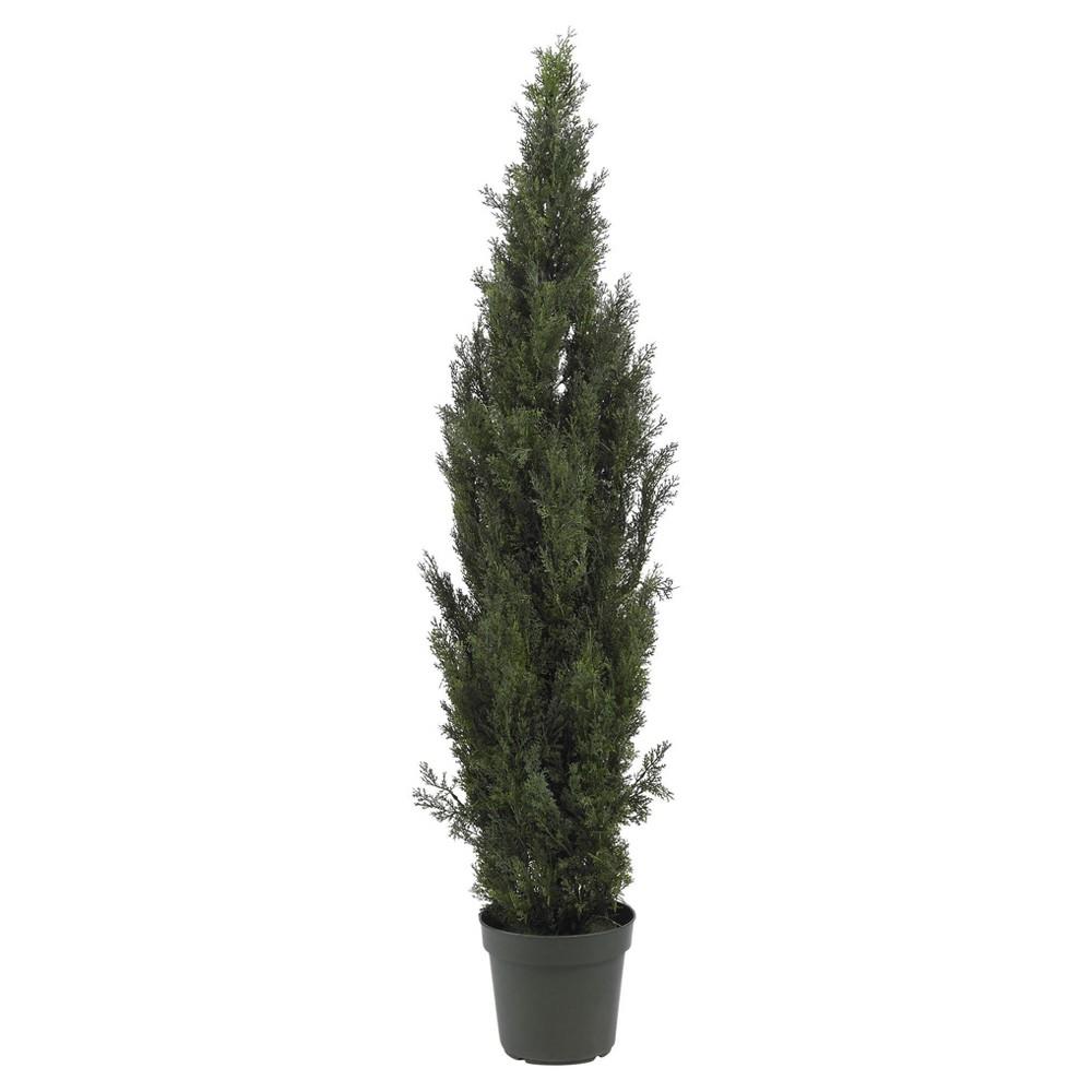 Artificial 6ft Mini Cedar Pine Tree Indoor Outdoor Nearly Natural
