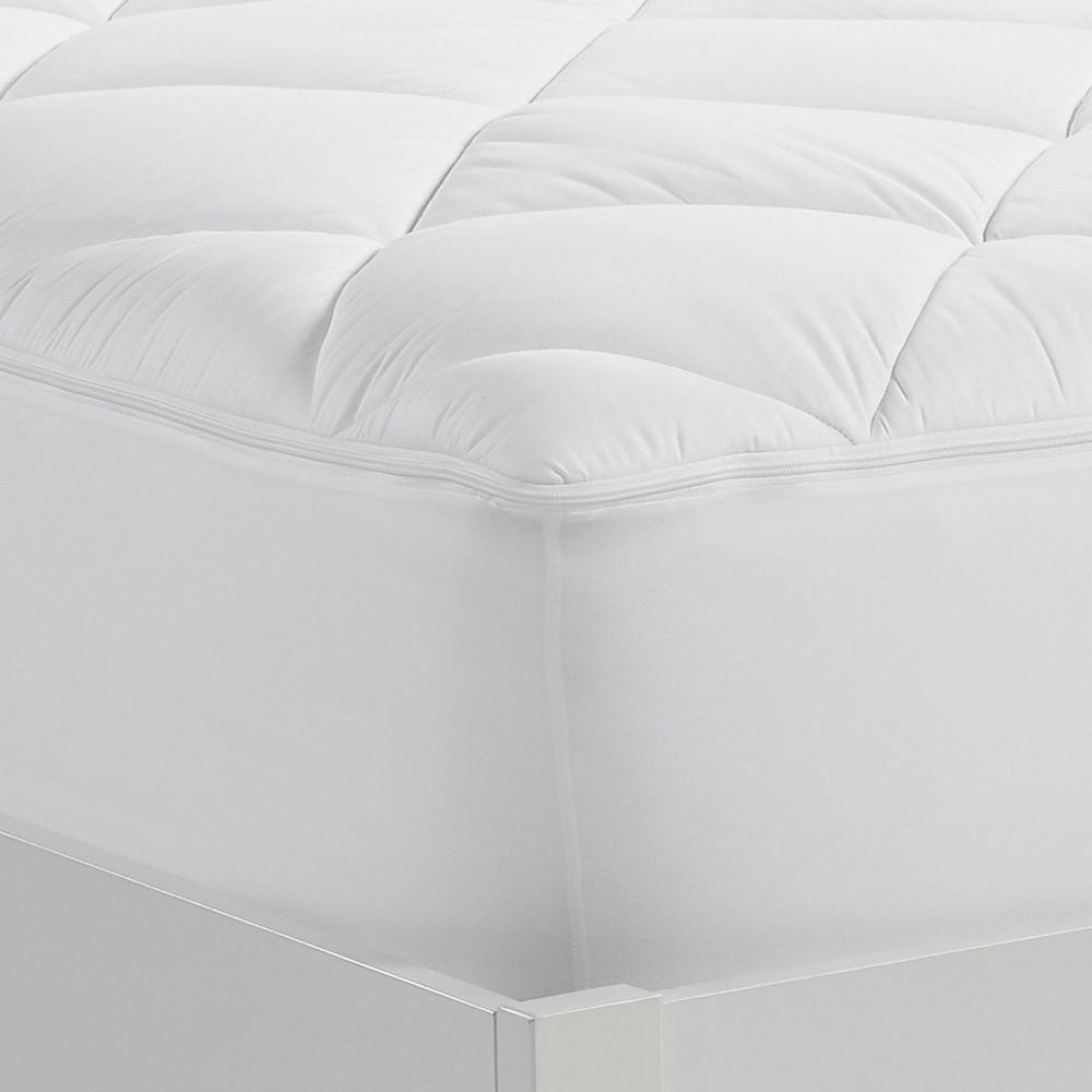 Image of California King Luxury Firm Mattress Pad - Serta, White
