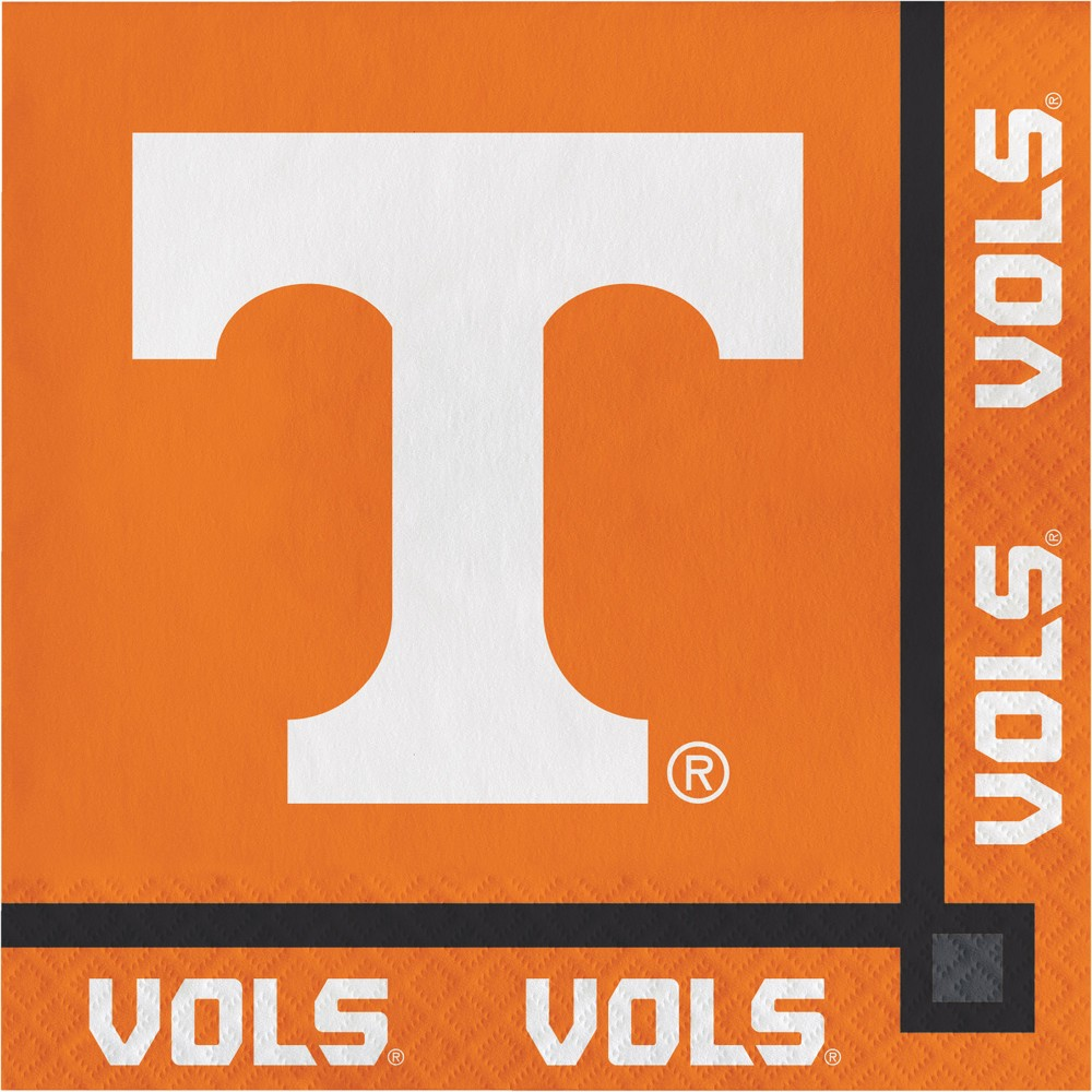 Image of 20ct Tennessee Volunteers Beverage Napkins