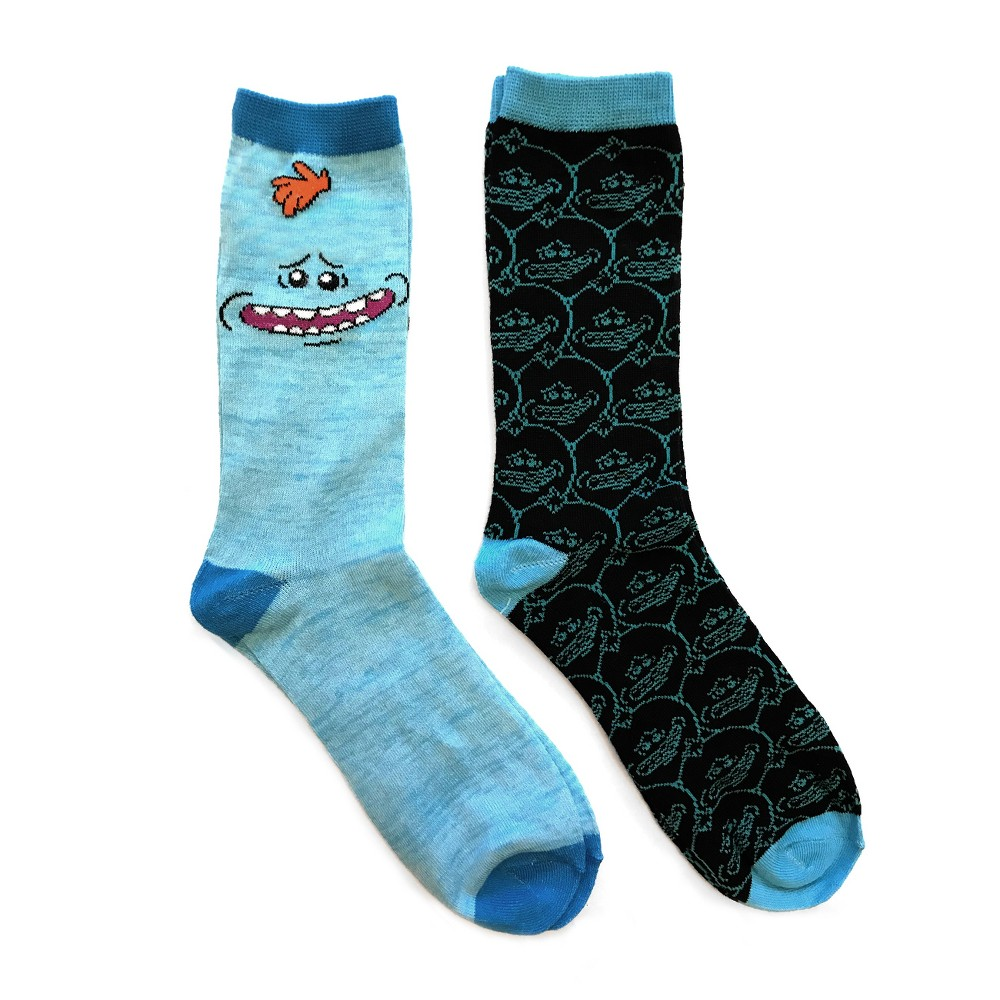 Rick and Morty 2pk Crew Sock - Blue Meeseeks (One Size)