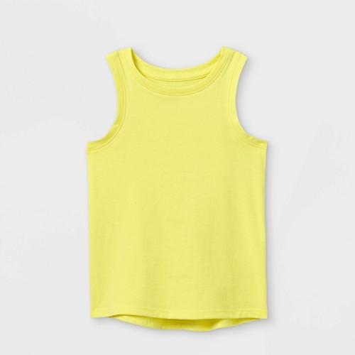 Toddler Girls Tank Top Cat Jack Yellow 12M