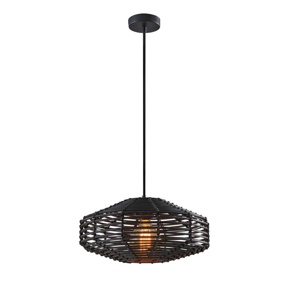 Image of Kingston Pendant Ceiling Light Black - Adesso