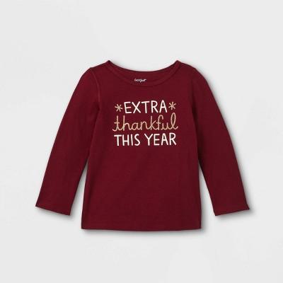 Girls' Adaptive Extra Thankful Short Sleeve T-Shirt - Cat & Jack™