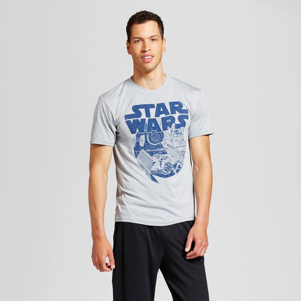 Men's Star Wars Star Wars Graphic T-Shirt - Silver XL
