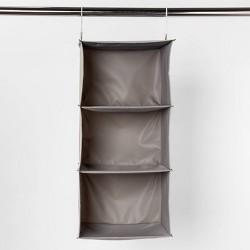 3 Shelf Hanging Closet Organizer Gray - Room Essentials™