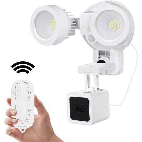 Wasserstein 3-in-1 Remote Control Floodlight, Charger and Mount for Wyze Cam V3 (White) - image 1 of 4