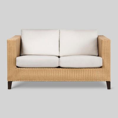 Fullerton Wicker Patio Loveseat -White - Project 62™