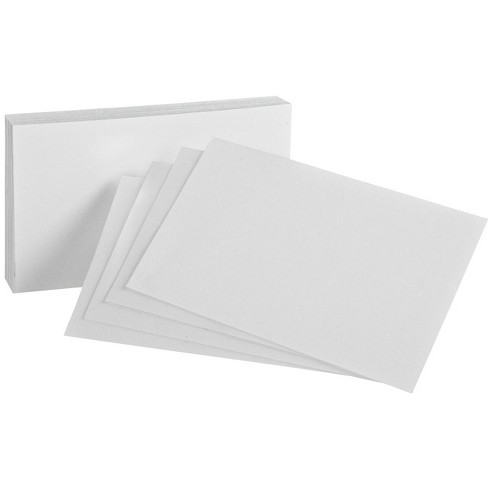 Oxford Unruled Index Cards, 5 x 8 Inches, White, pk of 100 - image 1 of 1