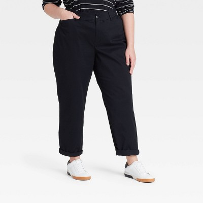 Women's Plus Size Tapered Chino Pants - Ava & Viv™