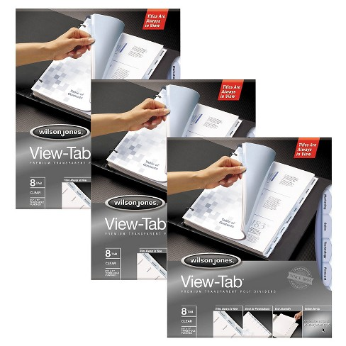 View-Tab™ 8tab Transparent File Divider - 3 Pack - image 1 of 1