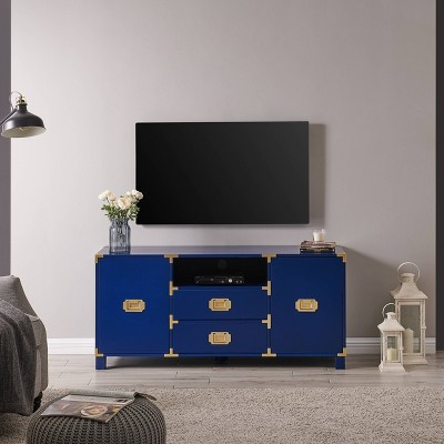 Claude Entertainment Center Console Navy - Aiden Lane