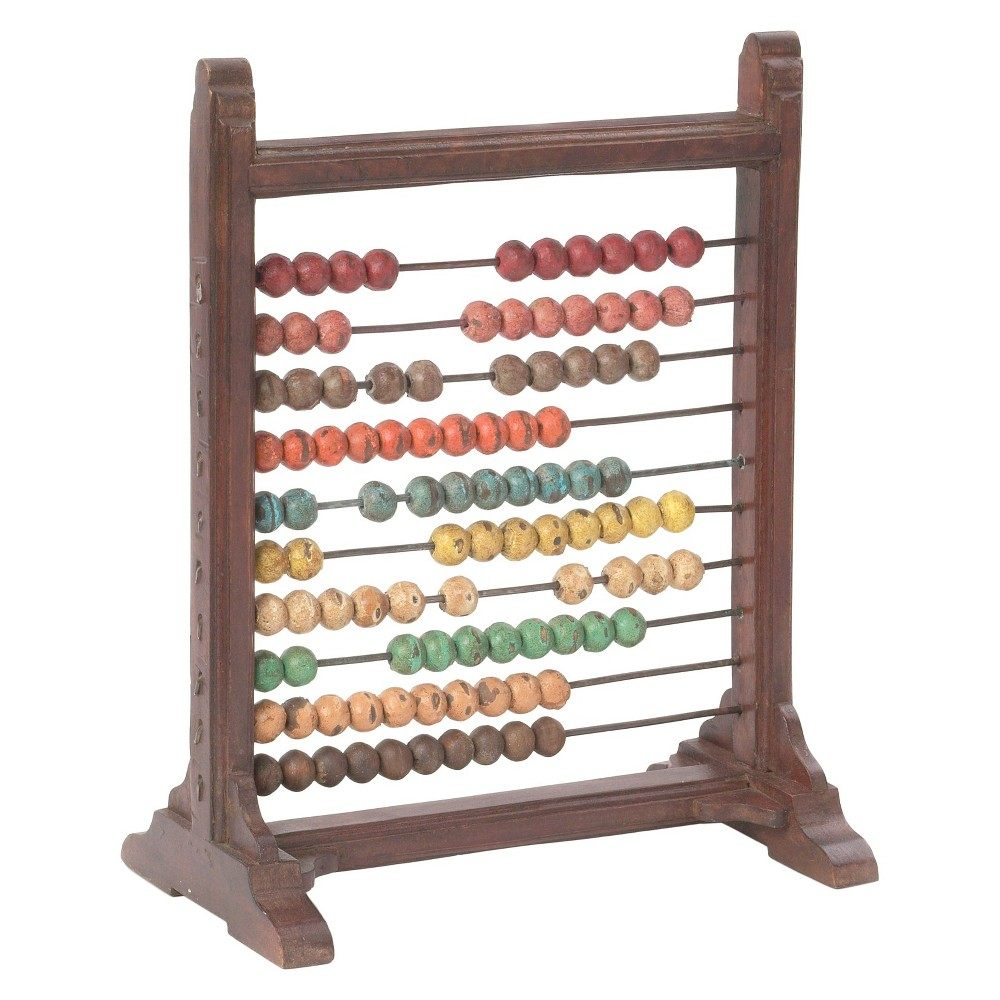 """Image of """"18"""""""" x 8"""""""" Decorative Abacus - Go Home, Brown"""""""