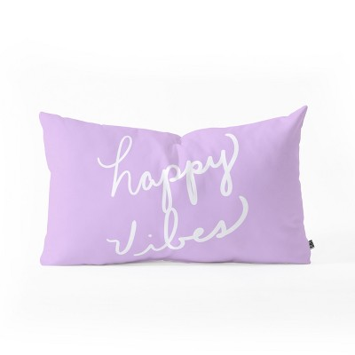 Lisa Argyropoulos Happy Vibes Lavender Lumbar Throw Pillow Purple - Deny Designs