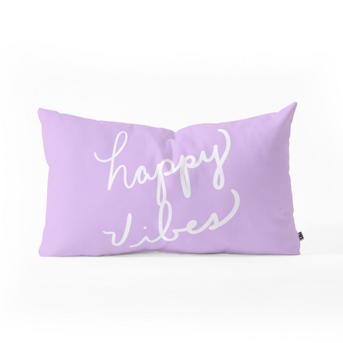 Lisa Argyropoulos Hy Vibes Lavender Lumbar Throw Pillow Purple Deny Designs Target