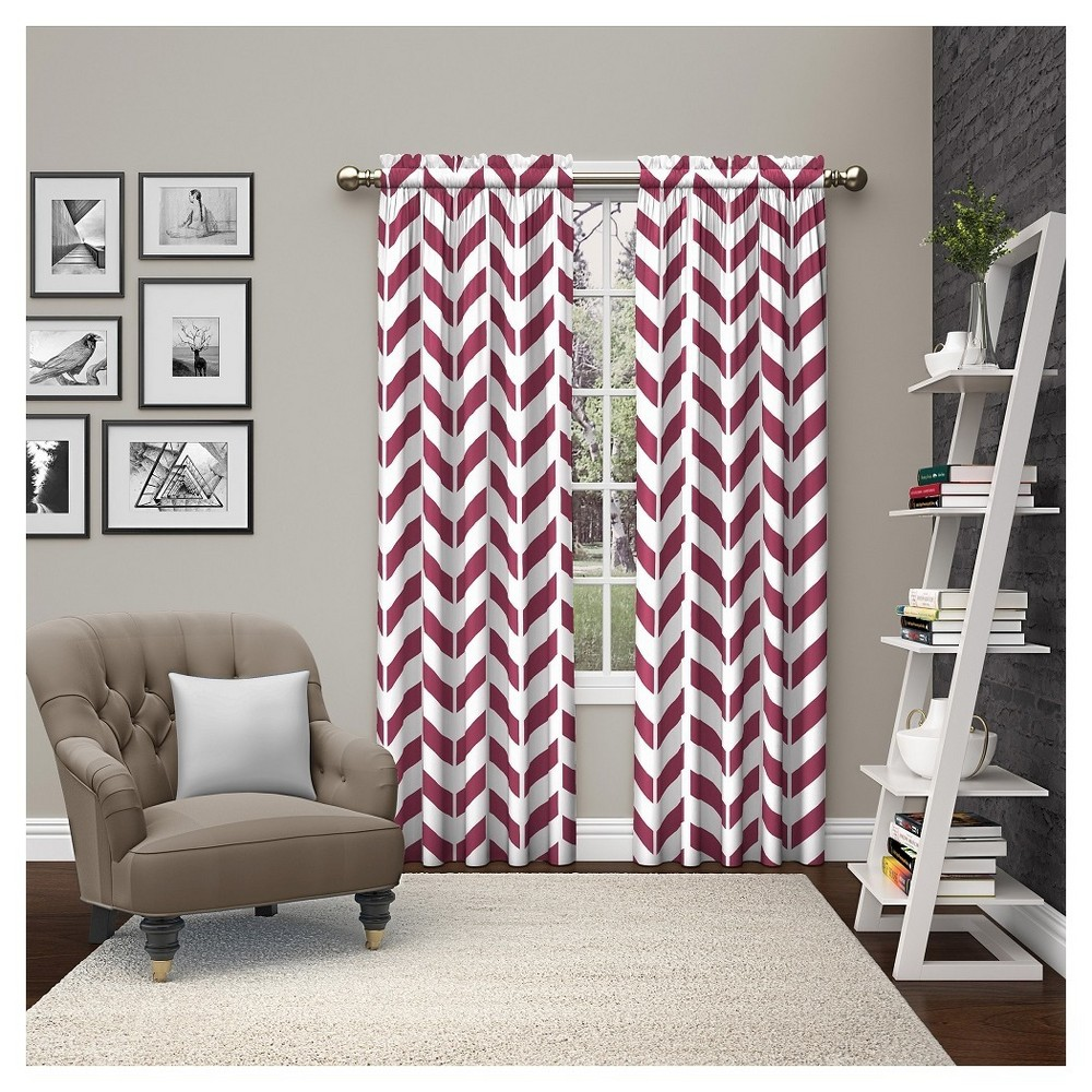 "Image of ""2 Piece 2 Piece Dewitt Curtain Panels Pink (28""""x63"""") Pairs to Go"""