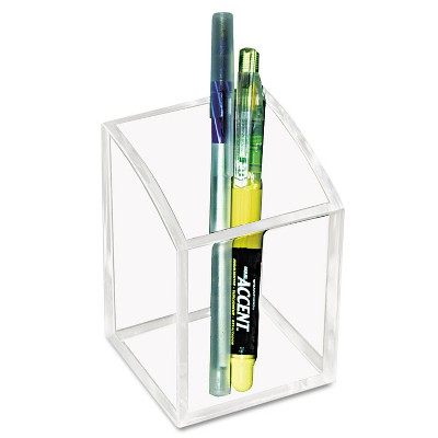 Kantek Acrylic Pencil Cup 2 3/4 x 2 3/4 x 4 Clear AD20