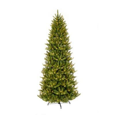 6.5ft Pre-lit Artificial Christmas Tree Forest Fir - Puleo