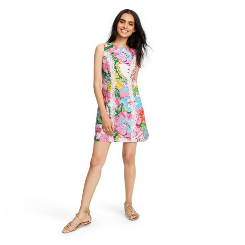Women's Nosey Posie Sleeveless Round Neck Shift Mini Dress - Lilly Pulitzer for Target - image 1 of 6