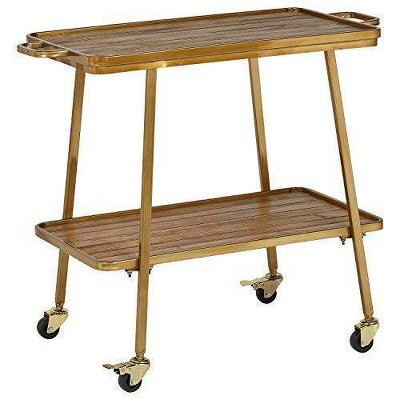 Felix 2 Tier Bar Cart Gold - Adore Decor