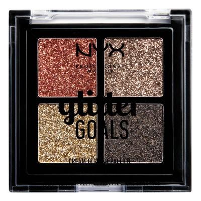 NYX Professional Makeup Glitter Goals Cream Quad Palette - 0.14oz