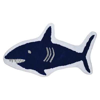 Shark Bath Rug Blue - Pillowfort™
