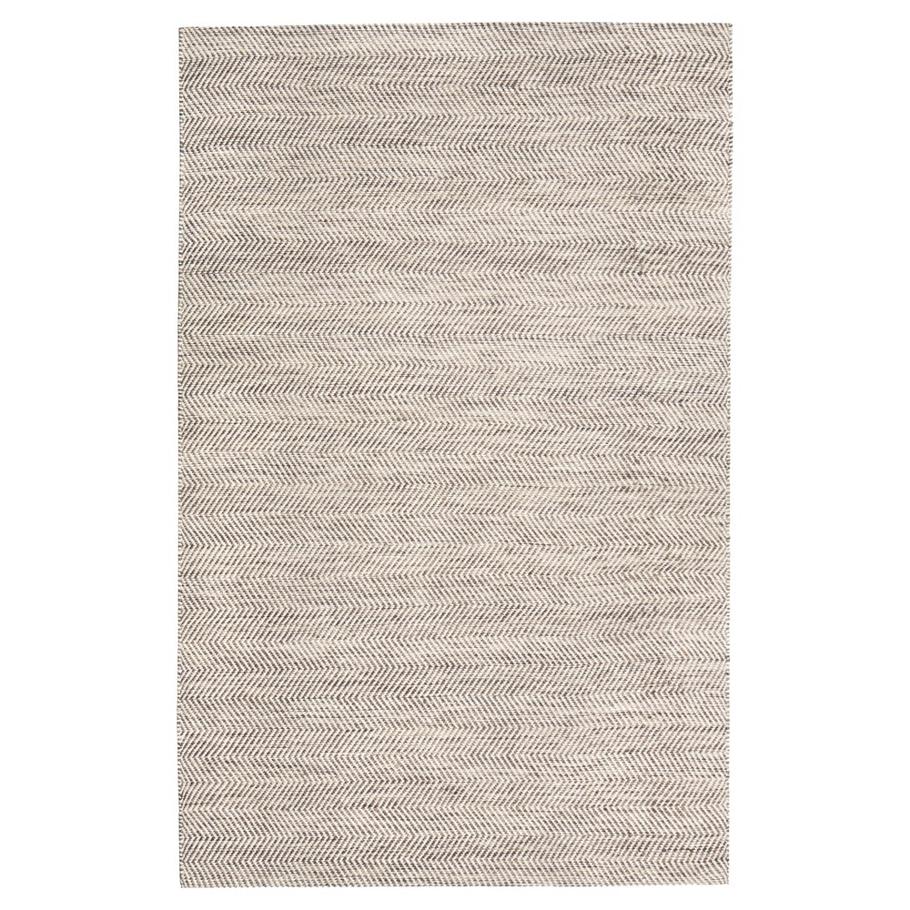 Beige Solid Woven Area Rug 8'X10' - Anji Mountain, Black