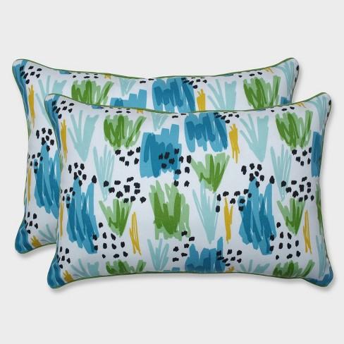 2pk Oversize Flicker Seaglass Rectangular Throw Pillows Blue - Pillow Perfect - image 1 of 1