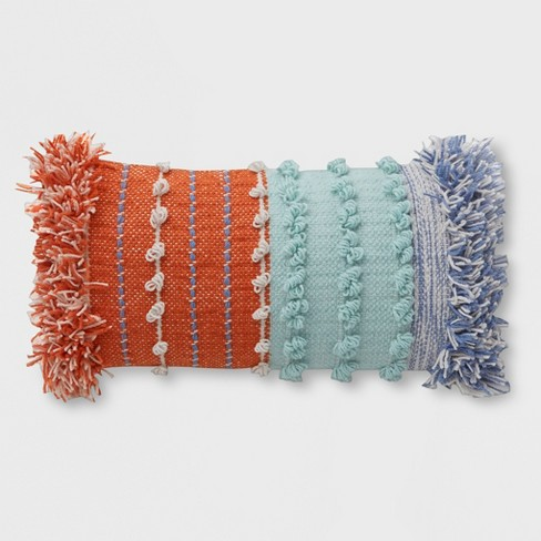 Lumbar Chunky Woven Outdoor Pillow - Opalhouse™ - image 1 of 2