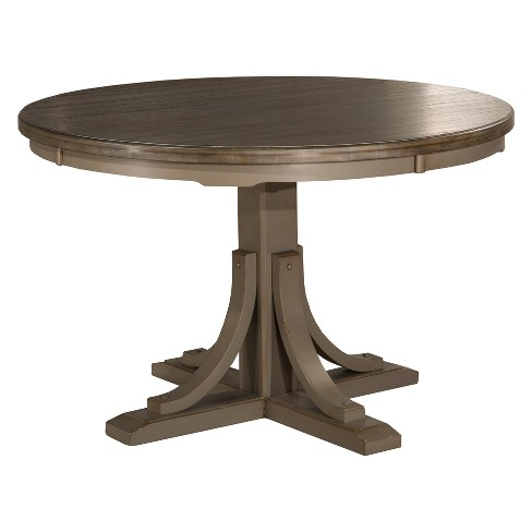 Clarion Round Dining Table Distressed Graymultistep Wirebrush