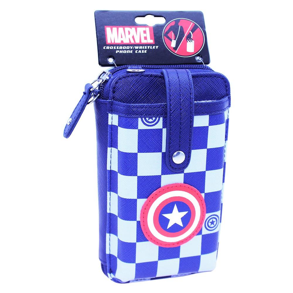 Marvel Captain America Phone/Wallet Crossbody, Girl's, Black