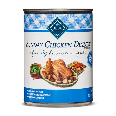 Blue Buffalo Family Favorites Sunday Chicken Dinner - Wet Dog Food - 12.5oz - image 1 of 2