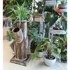 Gardenised Tree Stump Style Garden Tower Vertical Flower Planter with 4 Planting Slots - image 2 of 4