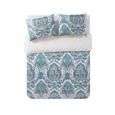 3pc Full/Queen Eloise Duvet Cover Set Blue - VCNY Home