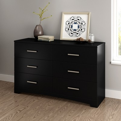 Gramercy 6 Drawer Double Dresser Pure Black - South Shore