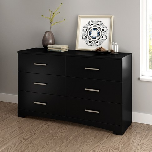 Gramercy 6 Drawer Double Dresser Pure Black - South Shore - image 1 of 4