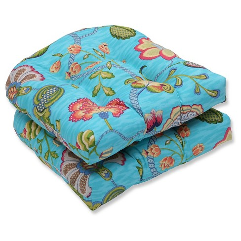 Pillow Perfect Arabella Caribbean Outdoor Cushion Set - Blue - image 1 of 1