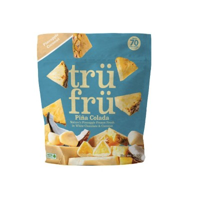 Tru Fru Frozen Pineapples in White Chocolate & Coconut - 8 oz