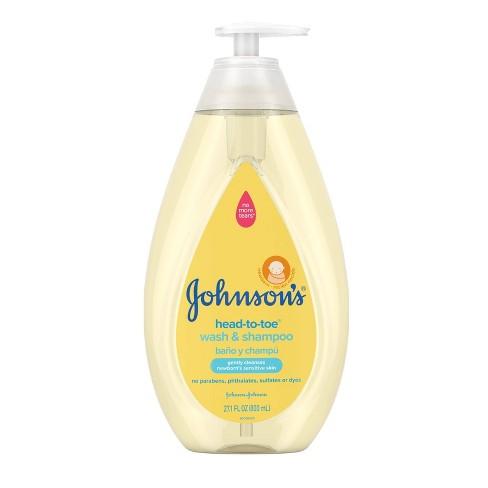 Johnson's Head-To-Toe Baby Wash and Shampoo - 27.1 fl oz - image 1 of 4
