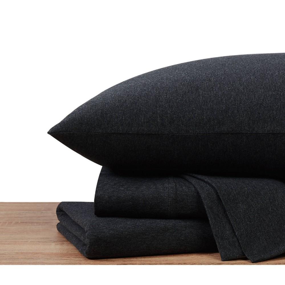 Twin Xl Jersey Cotton Sheet Set Graphite Sean John