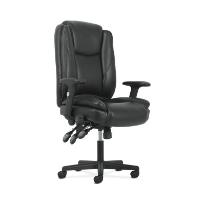Sadie High Back Ergonomic Swivel Leather Office/Computer Chair with Lumbar Support Black - HON