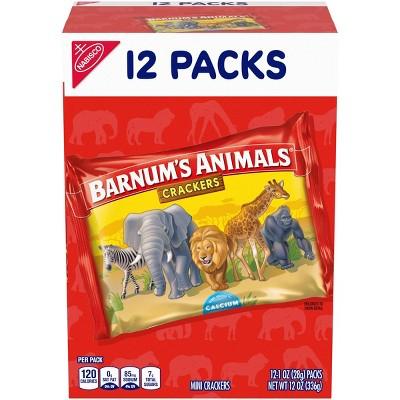 Barnums Animal Crackers Multipack - 12ct