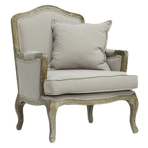 Constanza Classic Antiqued French Accent Chair - Baxton Studio - image 1 of 6