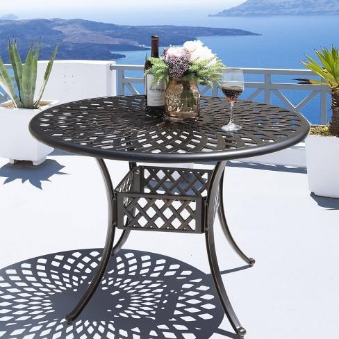 Cast Aluminum Round Dining Table - Nuu Garden - image 1 of 4